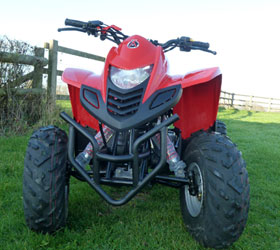 apache rlx 100 red quad bike