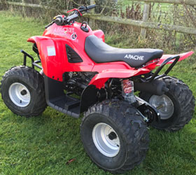 apache rlx 100 red quad