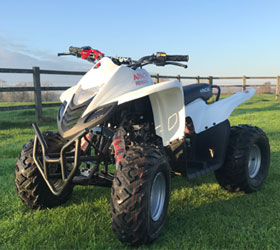 apache quad bike white
