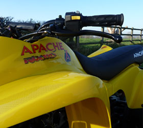 apache quad bike rlx 100 yellow