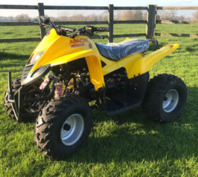 apache quad bike yellow rlx 100