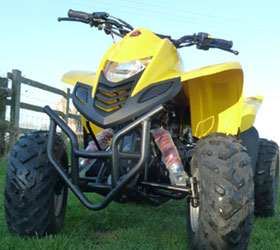 apache rlx 100 yellow quad bike children's